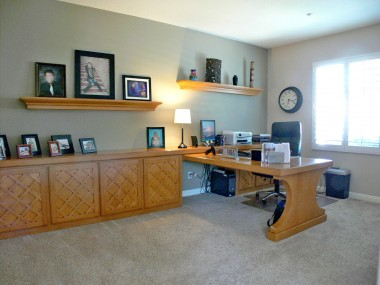 Huge downstairs study/office with built-in cabinetry and desk (or this room could be modified into a 5th ground floor bedroom if needed).