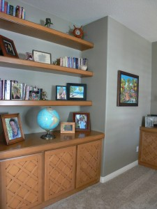 More built-ins in downstairs study/office.
