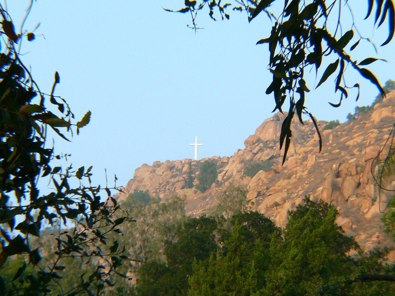 Commanding view of the Mt. Rubidoux cross.