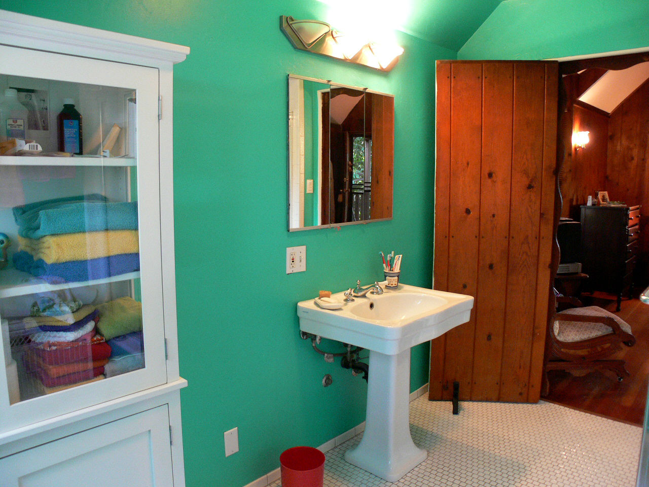 Alternate view of master bathroom.