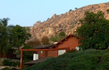 View of neighboring house and Mt. Rubidoux.