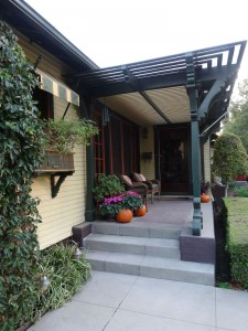Front porch entry -- with loads of charm!