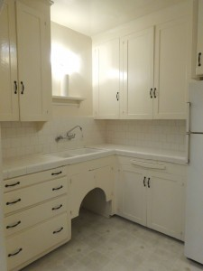 Lots of cabinetry in kitchen (even more storage above gas stove).