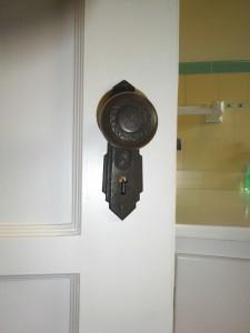 One of the many original door knobs.