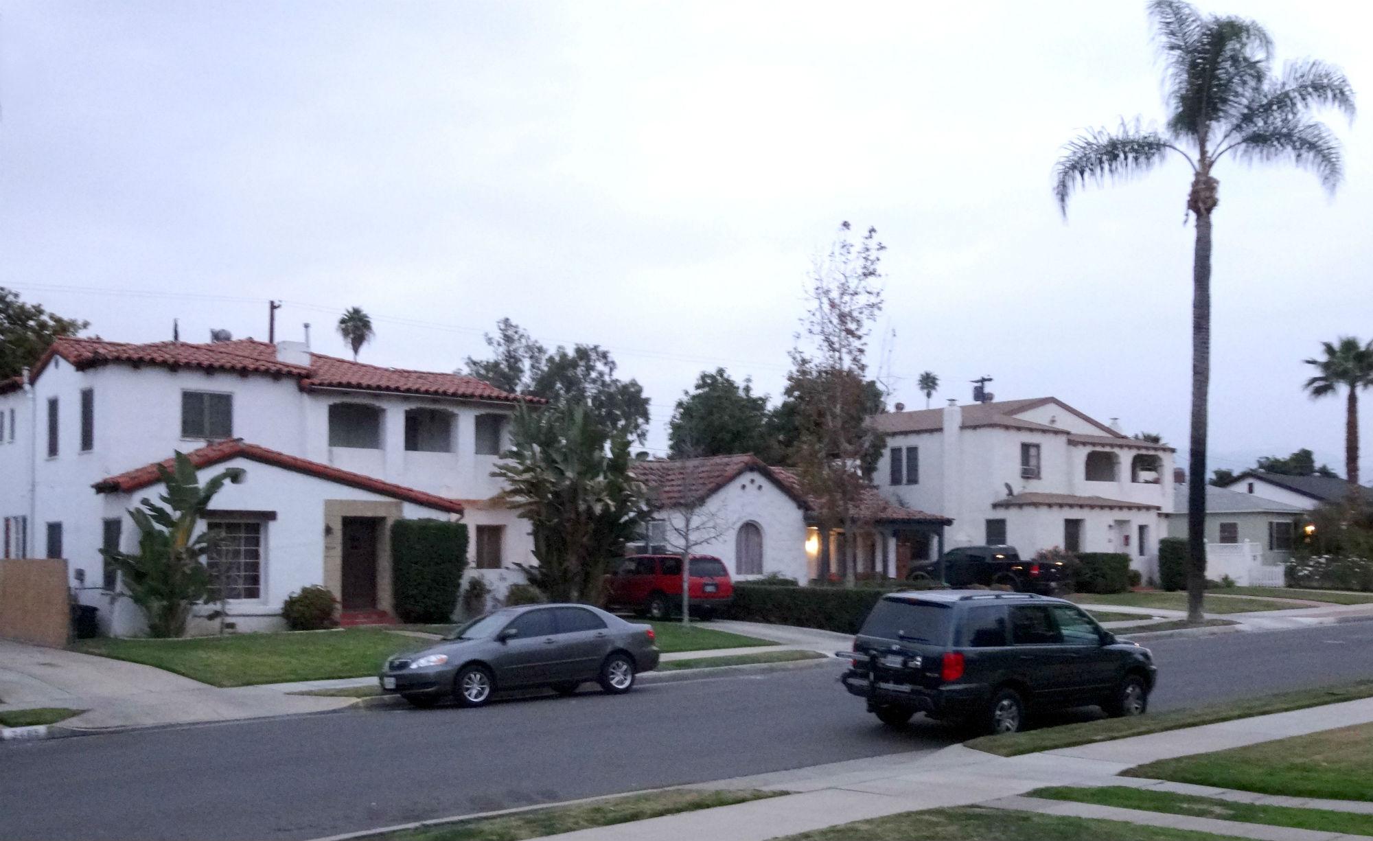 Beautiful neighboring homes on a quiet cul-de-sac street.