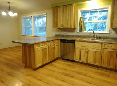 Remodeled country kitchen with  dishwasher and gas stove, lazy susan,  and lots of counter top preparation  space for the cook in your life!