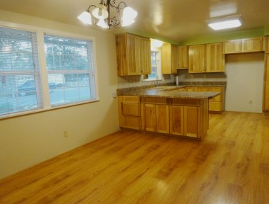 Huge remodeled country kitchen with  dining area and breakfast bar.