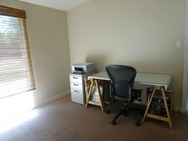 Third bedroom set up as an office, but boasts private half bathroom!!!