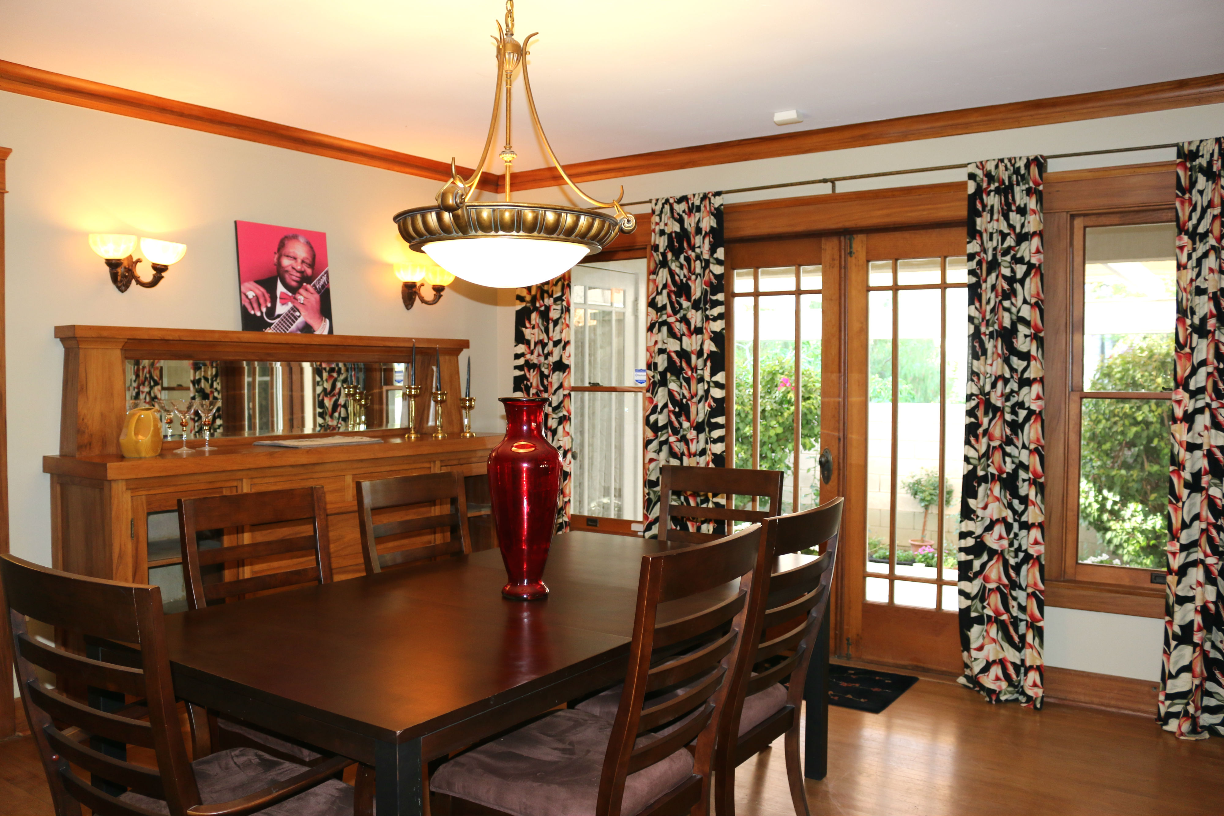 Fabulous Large Formal Dining Room With French Doors Leading To Private Side Patio