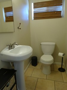 Half bath off the third bedroom. Very convenient and great for guests!