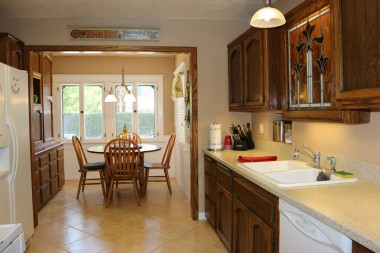 Large kitchen with lots of cabinetry and a sunny breakfast nook!