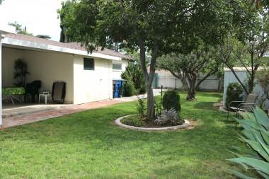 backyard to patio view