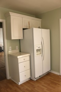 More kitchen cabinetry -- refrigerator is  negotiable.