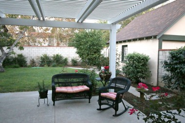 back patio and yard