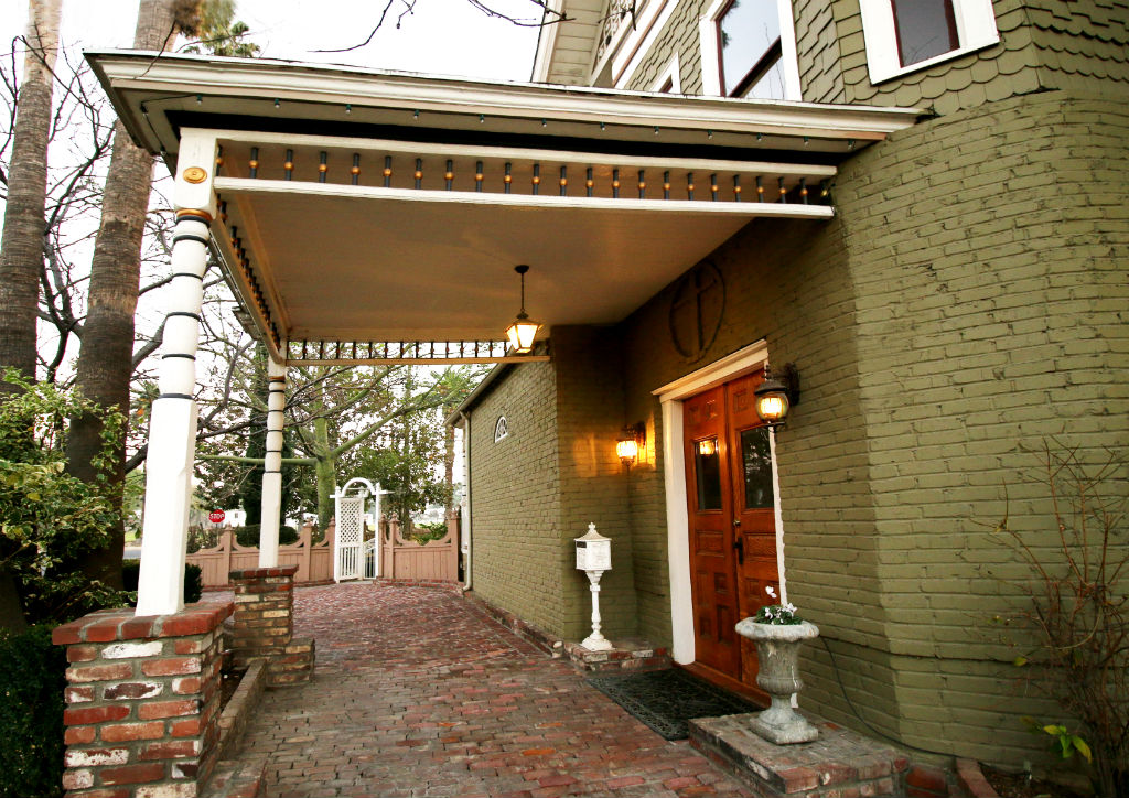 The original portico where the old horse-drawn carriages pulled up with guests in the late 19th and early 20th centuries. A large portion of original 19th century bricks are still in place!