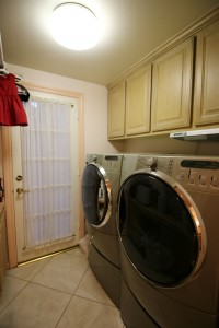 Separate laundry room large enough to accommodate today's large appliances.
