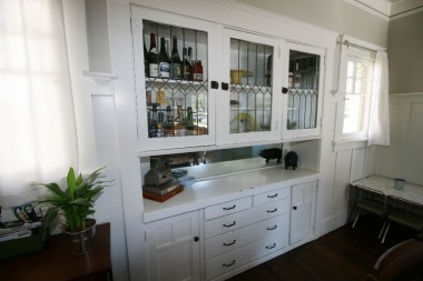 Original built-in China hutch.