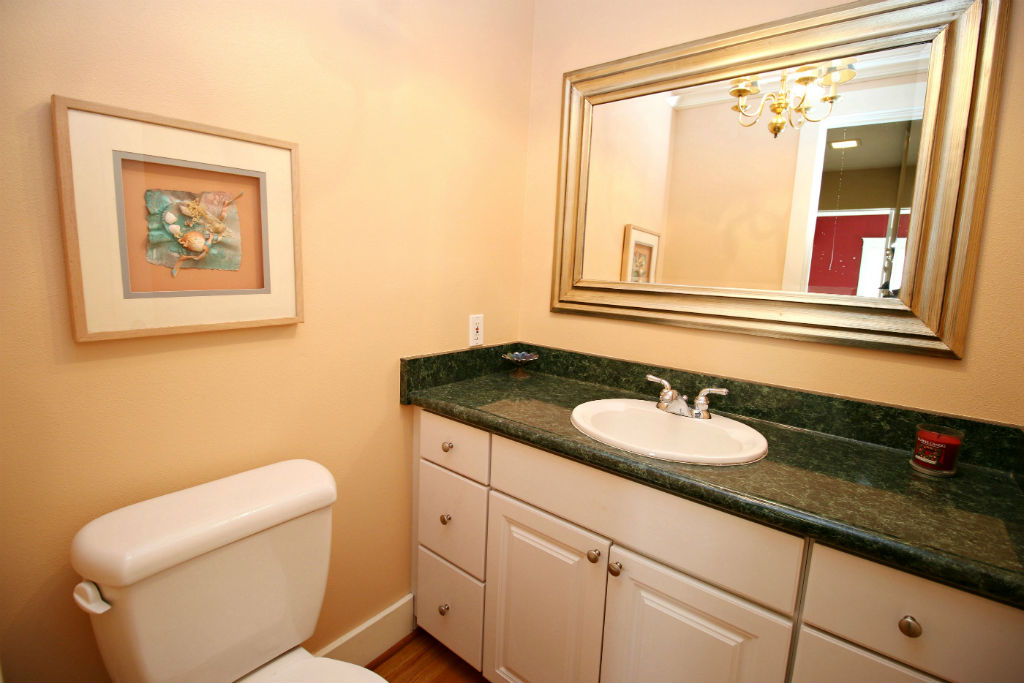 One of two downstairs bathrooms.