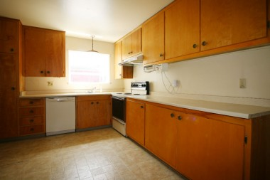 Spacious eat-in kitchen with dishwasher and lots of cabinetry.