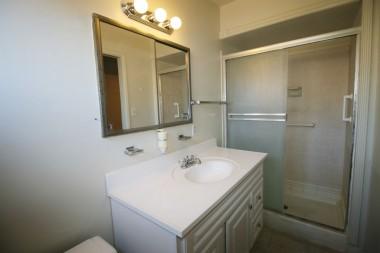 Private master bathroom.