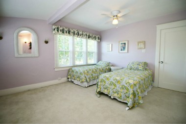 Third of five upstairs bedrooms -- this room has two separate closets, perfect for siblings.