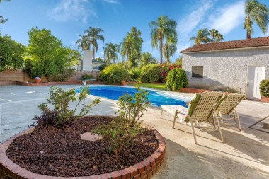 Gorgeous backyard with recently replastered pool. Enjoy your own year-round resort