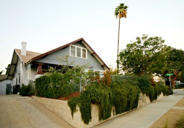 Drought tolerant landscaping throughout the property, plus some privacy due to the position of the home on a small hill.
