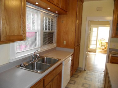 Remodeled kitchen.