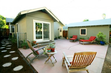 Charming extended back patio for entertaining.