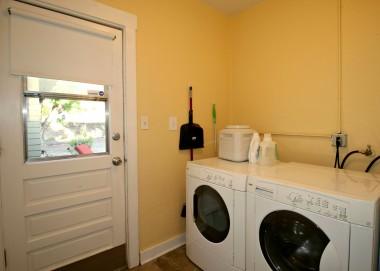 Convenient indoor laundry room just off the kitchen.