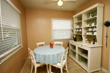 Hutch and table/chairs are included with the house!