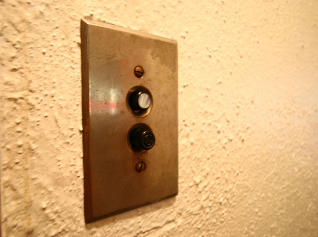 Many original push button light panels.