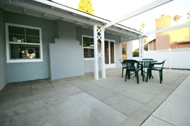 Lovely patio for backyard gatherings and al fresco dining.