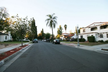 Street view of the lovely neighboring homes.