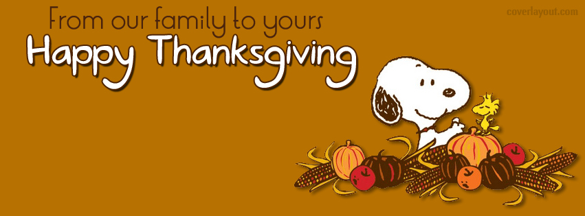 Happy Thanksgiving From Our Families to Yours!