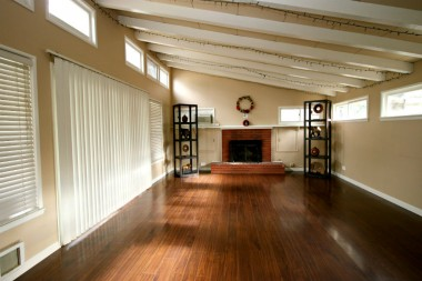 Huge family room in the back of the house which was previously used as a large (and 4th) bedroom.