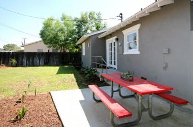 Terrific backyard with patio area.