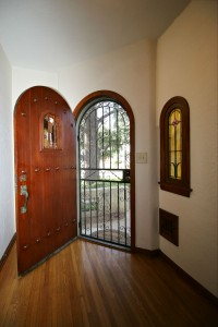 Gorgeous original wood front door.