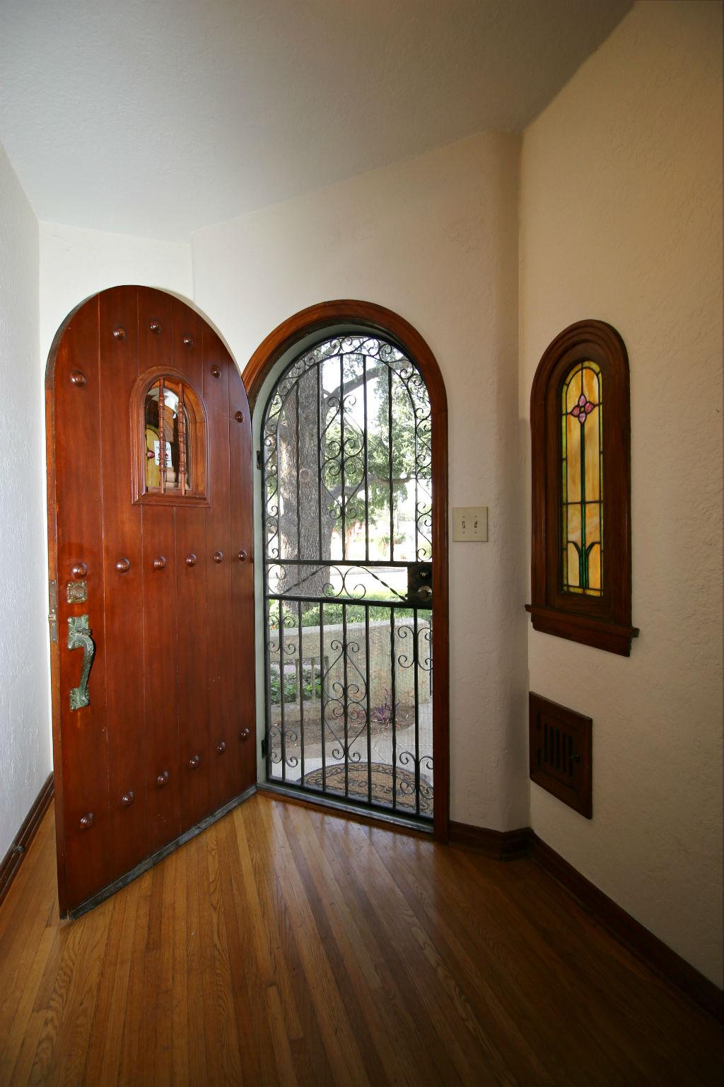 Gorgeous original wood front door.