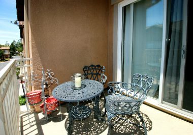 Spacious balcony with room for table/chairs and a BBQ unit, just off the formal dining area.