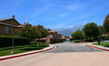 View of Mount Baldy in background as you enter the condo complex off of Church Street.