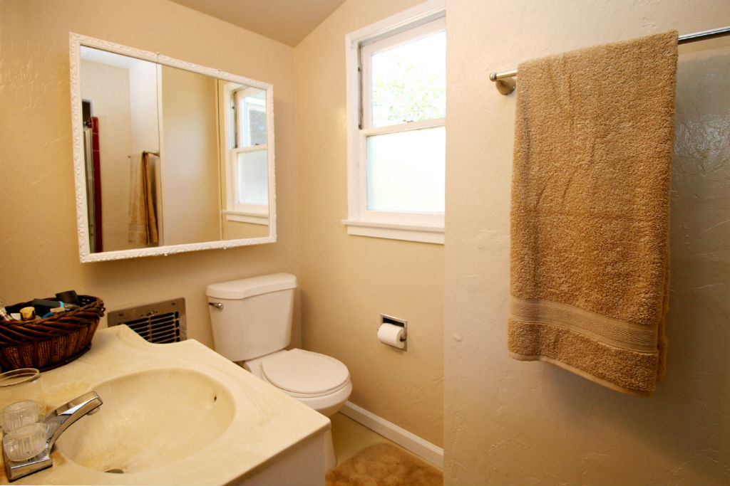 Private master bathroom with shower.