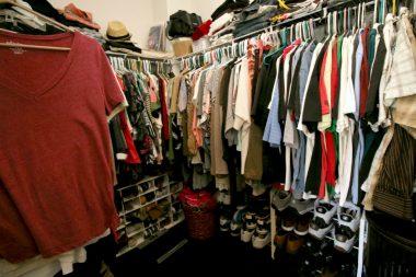 True walk-in sized master closet