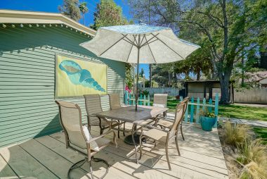 """Beach"" patio area is ideal for Al fresco dining! Outdoor furniture is negotiable."