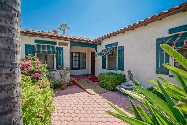 One of the key features of a Spanish Mediterranean home -- charming courtyard!