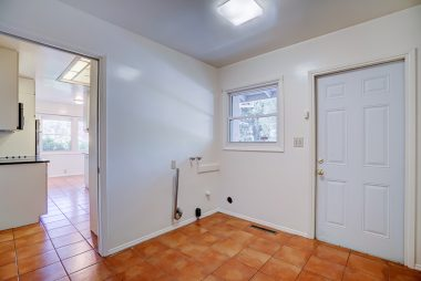 Laundry room with separate entrance.