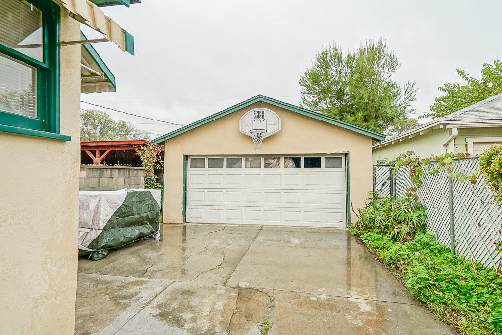 2-car detached garage with plenty of parking and long driveway.