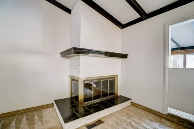 Gas and wood-burning fireplace