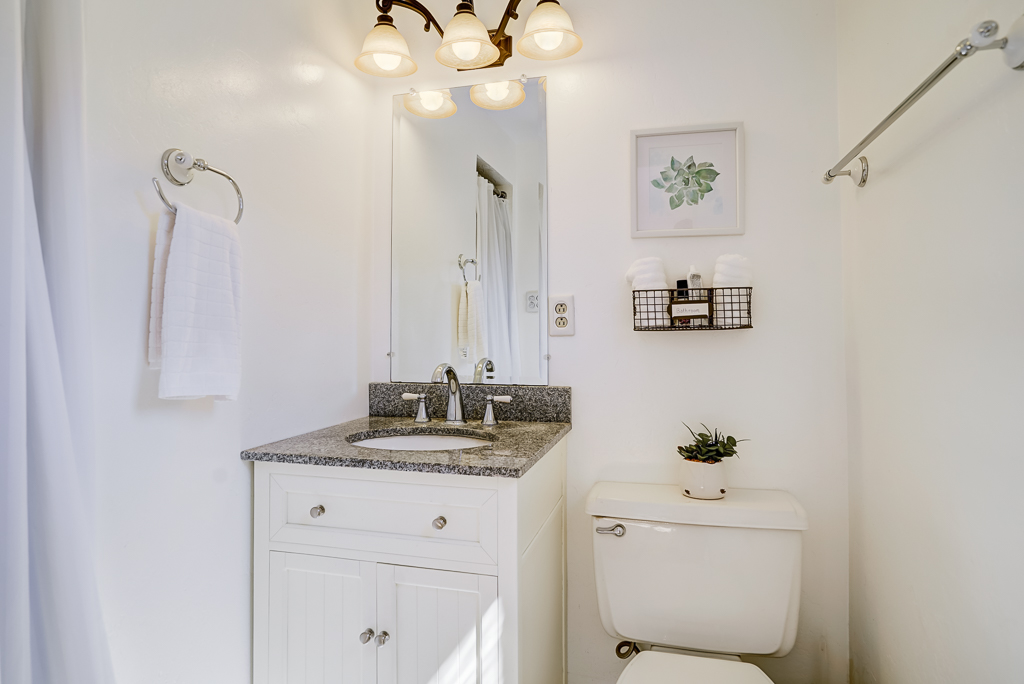 Private remodeled master bathroom with shower.