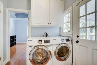 Indoor laundry.